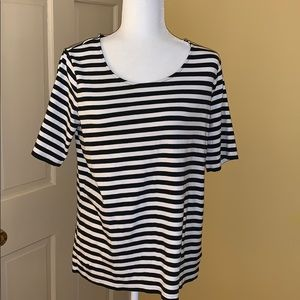 EUC Black and White Striped Ralph Lauren Top